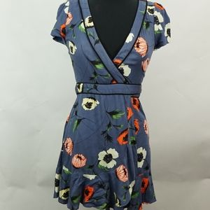 Kimchi Blue Poppy Flower Wrap Dress M